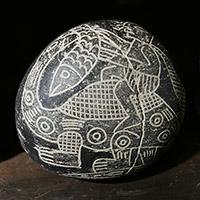 Камни Ики или андезит ручной росписи