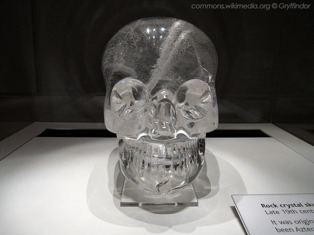 Хрустальный череп: экспонат Британского музея.