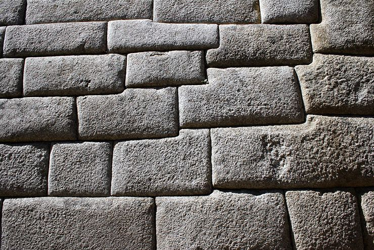 Фрагмент кладки блоков стены Мачу-Пикчу