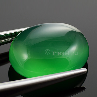 Natural Green Agate cab