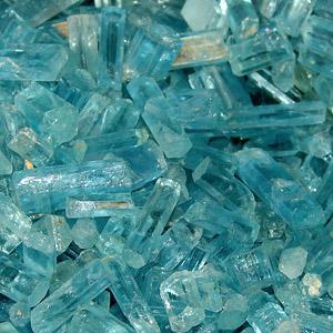 Натуральные кристаллы аквамарина