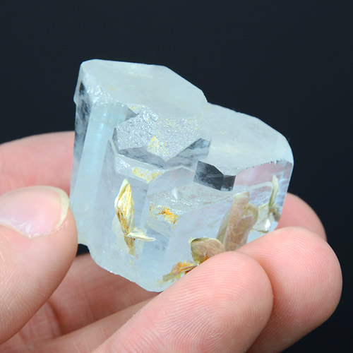 Natural Aquamarine - joint of crystals