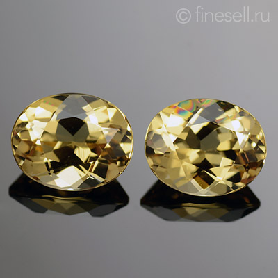 Natural Yellow Beryl Pair