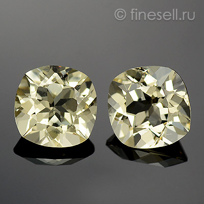 Natural Beryl Pair Cushion faceted
