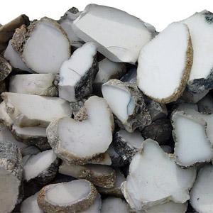 Кахолонг - срезы натурального камня