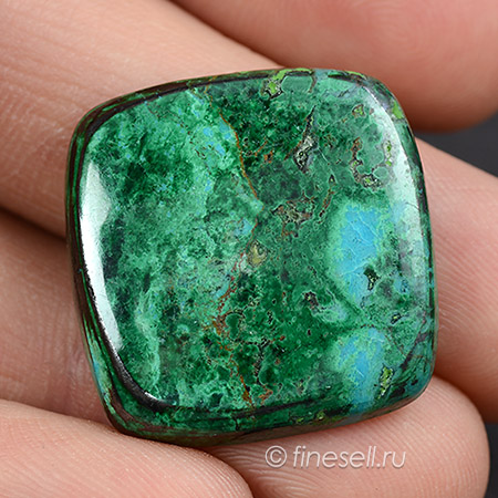 Loose Natural Chrysocolla with malachite gemstone Cabochon 46.0 Ct