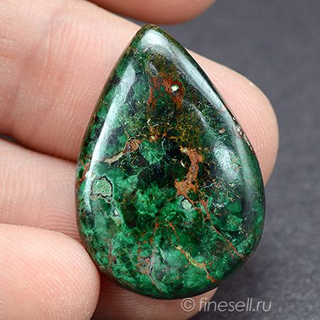 Loose Natural Chrysocolla gemstone Cabochon 29.5 Ct