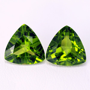 Natural Chrysolite pair 4.87 Ct