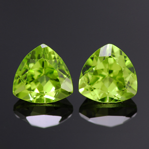 Natural Chrysolite Pair
