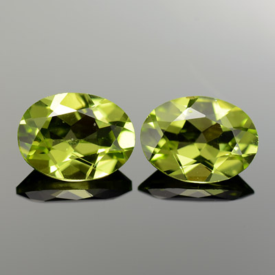 Natural Oval Chrysolite Pair