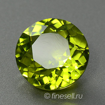 Natural Round Chrysolite loose gemstone