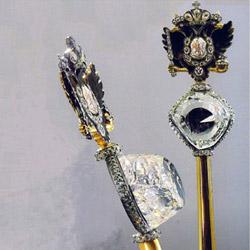 Алмаз имени графа Орлова весом в 300 карат в скипетре