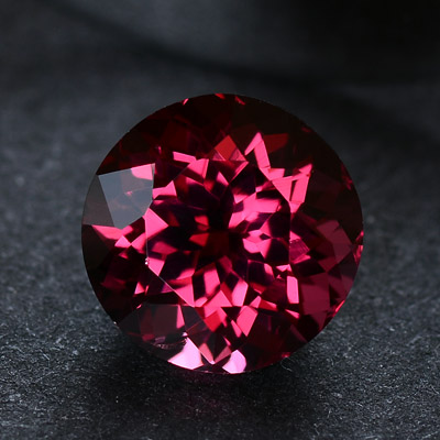 Top quality natural pinkish red rhodolite garnet perfect round shaped