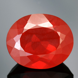 Natural Red Orange Fire Opal Loose oval gemstone 4.30 Ct