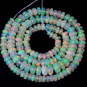 Natural Ethiopian Opal Beads Unheated 41.45 Ct