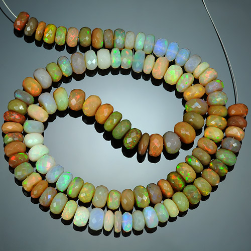 Huge Top quality faceted Natural Ethiopian Opal Beads Unheated