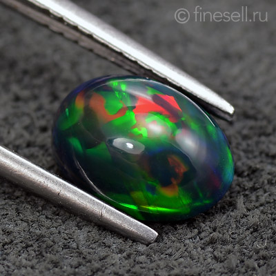 Full Fire Natural Ethiopian Welo Opal Oval Cabochon 1.17 Ct
