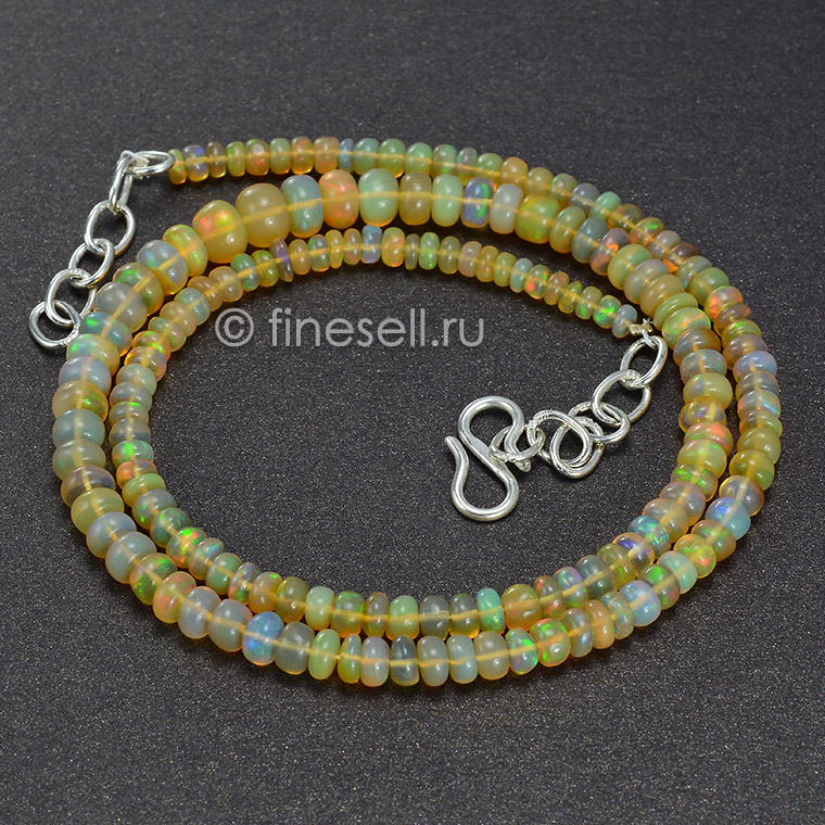 Natural Ethiopian Welo Opal Round Beads 46.00 Ct