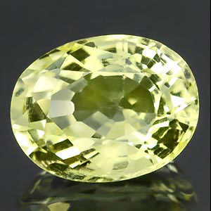 Natural yellow Scapolite oval cut