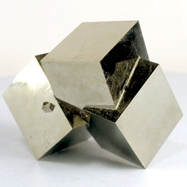 Идеальный агрегат кубических кристаллов пирита