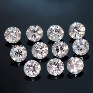 Round Calibrated Natural White Sapphire loose stones 2.50 mm