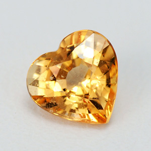 Natural Yellow Sapphire Hearth shape 0.83 Ct