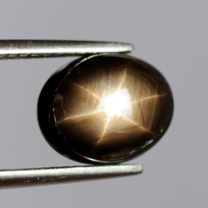 Natural Black Star Sapphire Cabochon 3.38 Ct