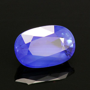 Natural True Royal Blue Cornflower Sapphire oval faceted gemstone 1.34 Ct