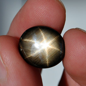 Натуральный звёздчатый сапфир 14.44 Ct