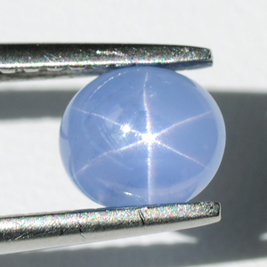 Natural Unheated, Untreated Blue Star Sapphire Oval Cabochon 1.00 Ct