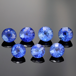 Natural Round Blue Sapphires for Jewelry