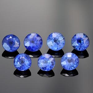 Круглые синие сапфиры для ювелирных украшений