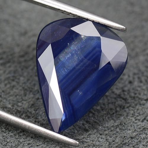 Натуральный синий сапфир крупный камень