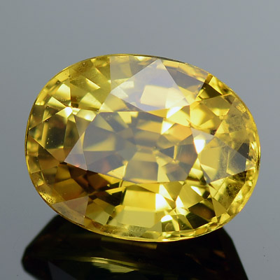 Natural Yellow Sapphire oval faceted loose stone