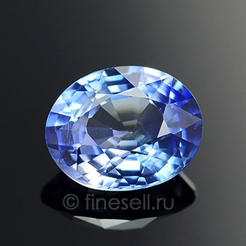 Natural Blue Sapphire Oval Shaped 1.36 Ct