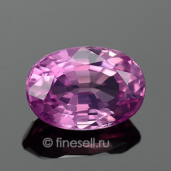 Loose Natural Purplish-pink Sapphire oval gemstone
