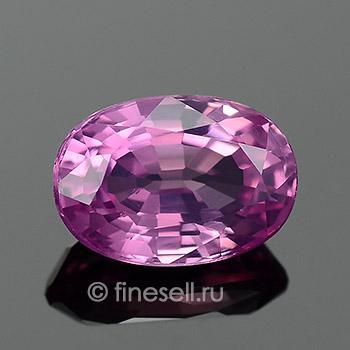 Натуральный розовато-пурпурный сапфир