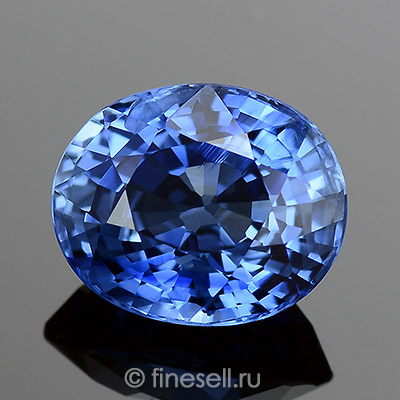 Traditional Heated Natural Ceylon Blue Sapphire loose gemstone for sale 1.55 Carats