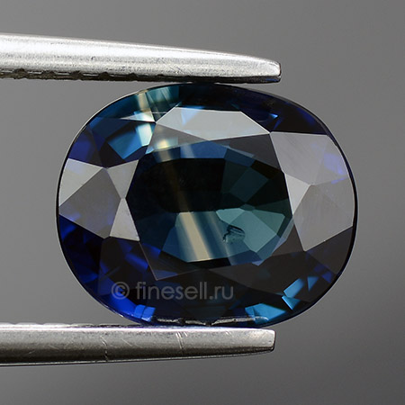 Deep Blue Natural Loose Oval Cut Sapphire 2.34 Ct