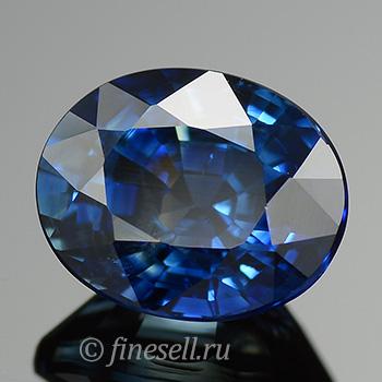 Натуральный синий сапфир