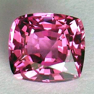 Натуральный розовый сапфир