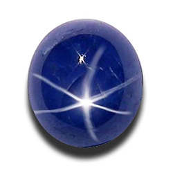 Натуральный звёздчатый сапфир