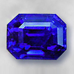 Royal blue color sapphire high quality