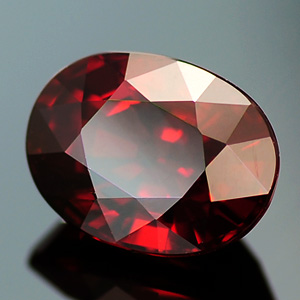 Great Deep Red Color Perfect Oval Cut Natural Spessartine 2.53 Ct