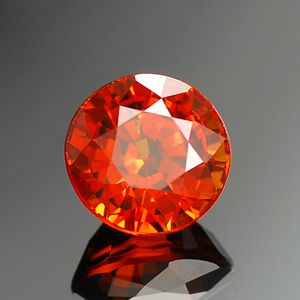 Top Orange Color Round Shaped Natural Spessartine Garnet For Sale