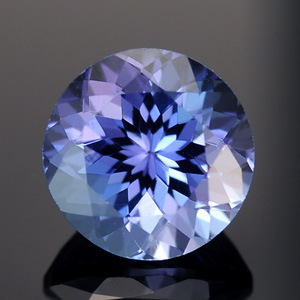 Natural Round Moderate bluish Violet (bVM) Tanzanite loose gem 0.97 Ct