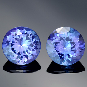 Natural Round Matched Tanzanite Pair vBI 3.50 Ct