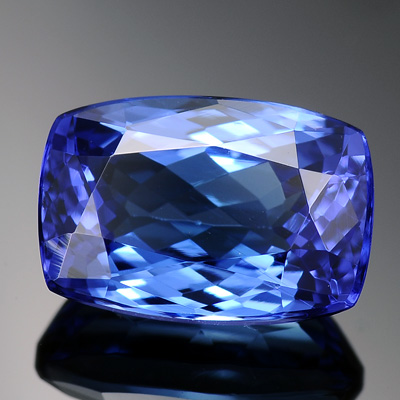 Top Quality Vivid AAA violetish Blue Color Natural Tanzanite Loose Gemstone 3.36 Ct