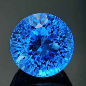 Natural top swiss blue color topaz