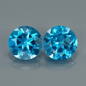 Natural Round Topaz Pair 8.0 mm.